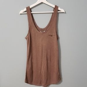 NWT AERIE Raw Edge Tunic Length Tank